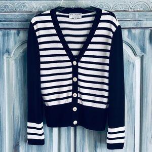 St. John Knit Nautical Stripe Jacket